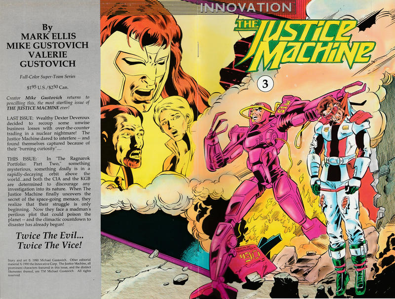 Cover for The Justice Machine (Innovation, 1990 series) #3