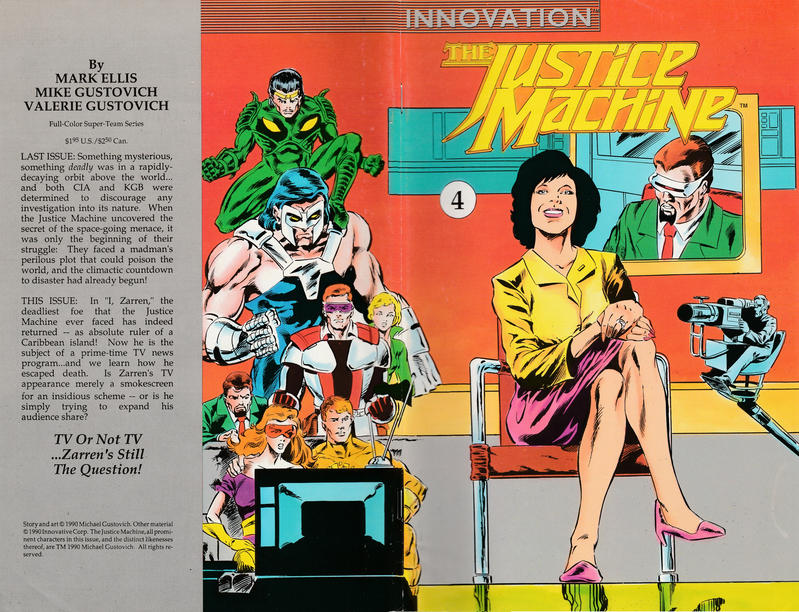 Cover for The Justice Machine (Innovation, 1990 series) #4