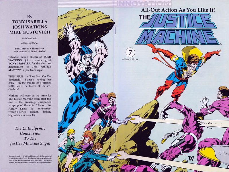Cover for The Justice Machine (Innovation, 1990 series) #7