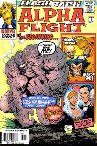 Cover for Alpha Flight: In the Beginning (Marvel, 1997 series) #-1 [Direct Edition]