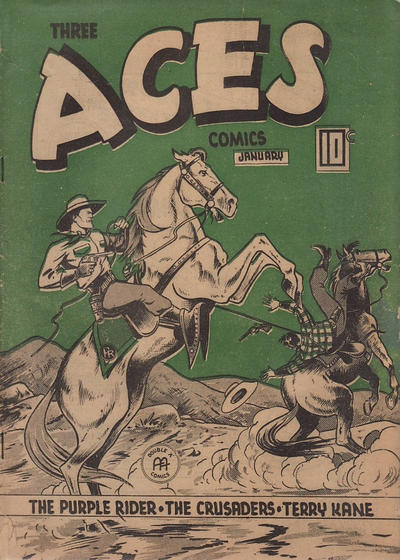 Cover for Three Aces Comics (Anglo-American Publishing Company Limited, 1941 series) #v3#12 [36]