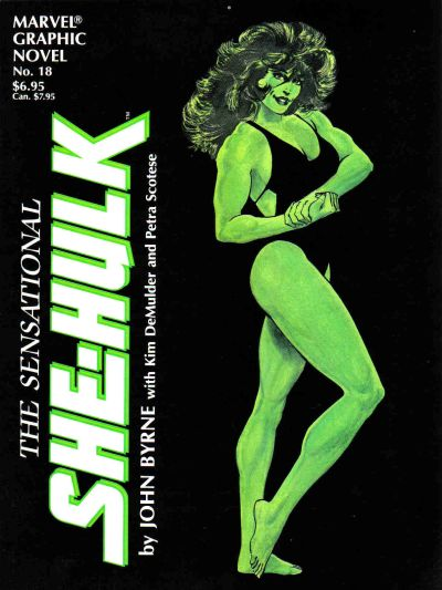Cover for Marvel Graphic Novel (Marvel, 1982 series) #18 - The Sensational She-Hulk