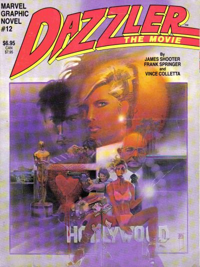 Cover for Marvel Graphic Novel (Marvel, 1982 series) #12 - Dazzler: The Movie
