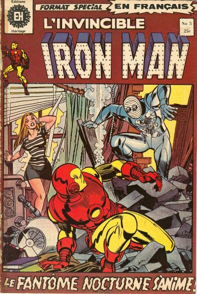 Cover for L'Invincible Iron Man (Editions Héritage, 1972 series) #5