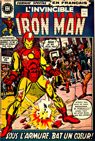 Cover for L' Invincible Iron Man (Editions Héritage, 1972 series) #6