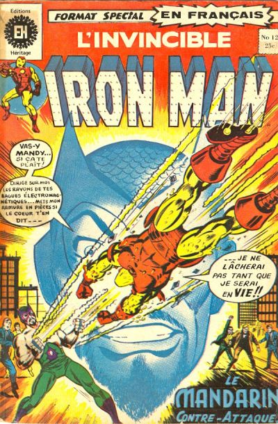 Cover for L' Invincible Iron Man (Editions Héritage, 1972 series) #12