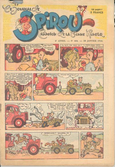 Cover for Le Journal de Spirou (Dupuis, 1938 series) #404