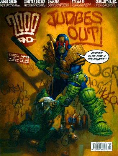 Cover for 2000 AD (Rebellion, 2001 series) #1446