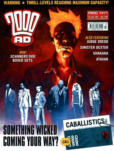 Cover for 2000 AD (Rebellion, 2001 series) #1447