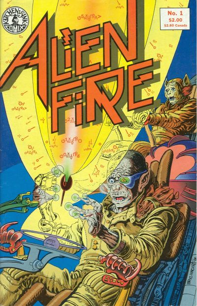 Cover for Alien Fire (Kitchen Sink Press, 1987 series) #1