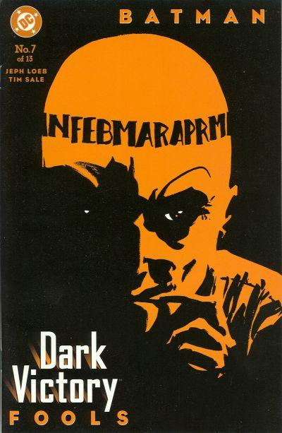 Cover for Batman: Dark Victory (DC, 1999 series) #7