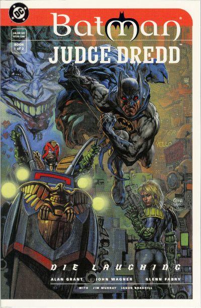 Cover for Batman / Judge Dredd: Die Laughing (DC, 1998 series) #1