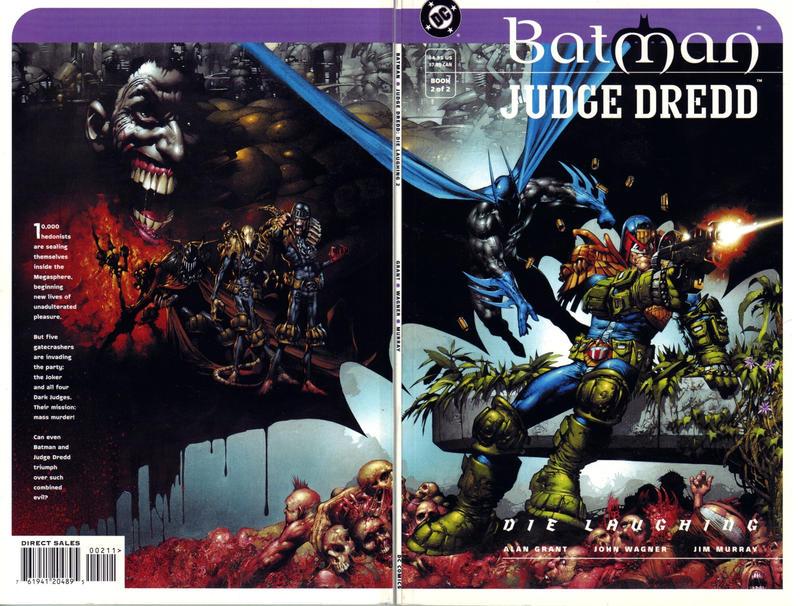 Cover for Batman / Judge Dredd: Die Laughing (DC, 1998 series) #2
