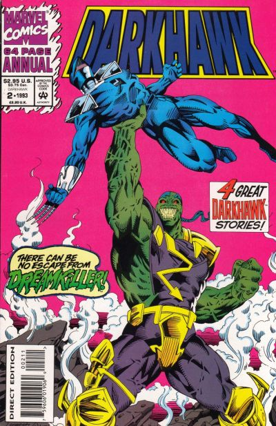 Cover for Darkhawk Annual (Marvel, 1992 series) #2 [Direct Edition]