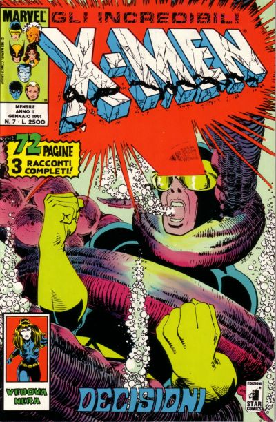 Cover for Gli Incredibili X-Men (Edizioni Star Comics, 1990 series) #7