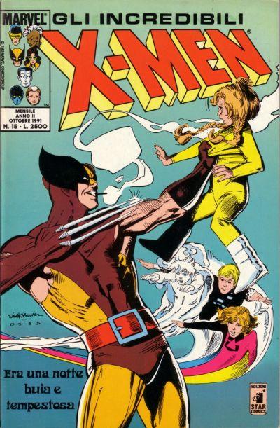 Cover for Gli Incredibili X-Men (Edizioni Star Comics, 1990 series) #15