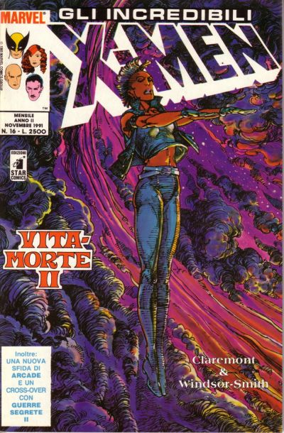 Cover for Gli Incredibili X-Men (Edizioni Star Comics, 1990 series) #16