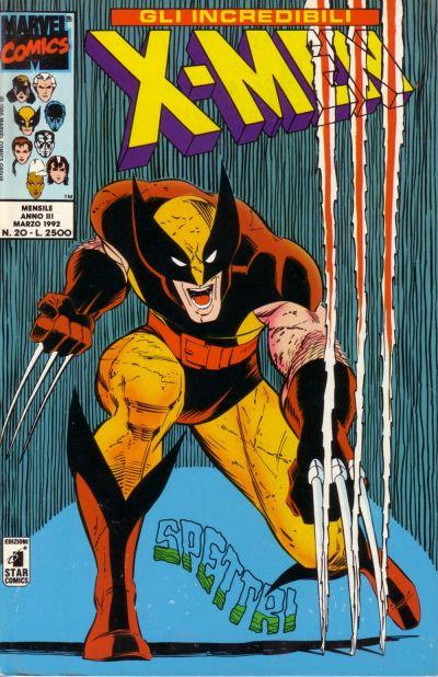 Cover for Gli Incredibili X-Men (Edizioni Star Comics, 1990 series) #20