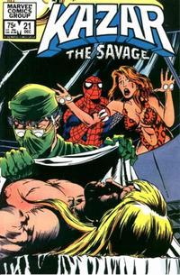 Cover Thumbnail for Ka-Zar the Savage (Marvel, 1981 series) #21