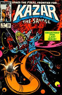 Cover Thumbnail for Ka-Zar the Savage (Marvel, 1981 series) #34