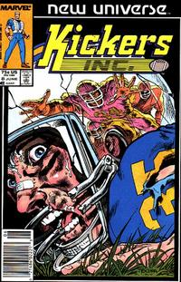 Cover Thumbnail for Kickers, Inc. (Marvel, 1986 series) #8 [Newsstand Edition]