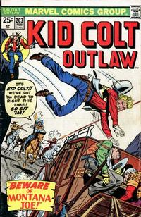 Cover Thumbnail for Kid Colt Outlaw (Marvel, 1949 series) #203