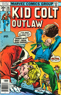 Cover Thumbnail for Kid Colt Outlaw (Marvel, 1949 series) #218