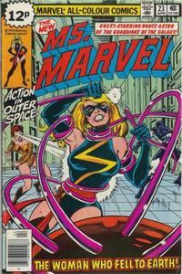 Cover Thumbnail for Ms. Marvel (Marvel, 1977 series) #23 [British price variant]