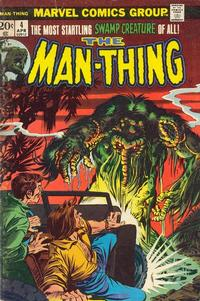 Cover Thumbnail for Man-Thing (Marvel, 1974 series) #4