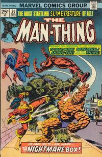 Cover for Man-Thing (Marvel, 1974 series) #20