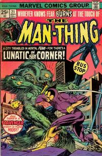 Cover Thumbnail for Man-Thing (Marvel, 1974 series) #21