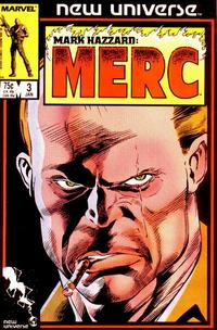Cover Thumbnail for Mark Hazzard: Merc (Marvel, 1986 series) #3 [Direct Edition]