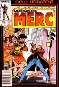 Cover Thumbnail for Mark Hazzard: Merc (Marvel, 1986 series) #4 [Newsstand Edition]