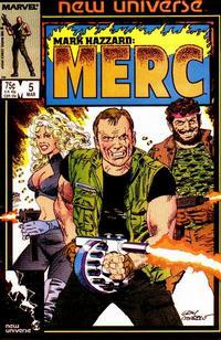Cover Thumbnail for Mark Hazzard: Merc (Marvel, 1986 series) #5 [Direct]