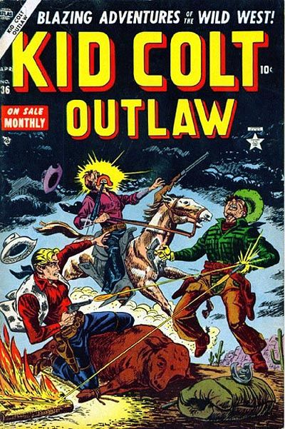 Cover for Kid Colt Outlaw (Marvel, 1949 series) #36