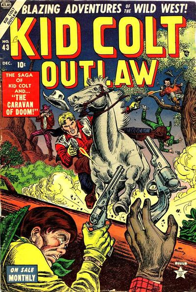 Cover for Kid Colt Outlaw (Marvel, 1949 series) #43