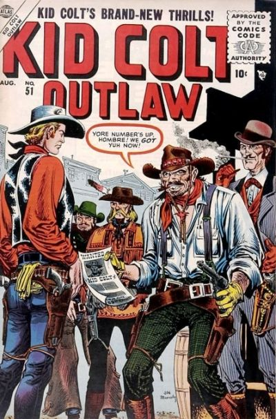 Cover for Kid Colt Outlaw (Marvel, 1949 series) #51