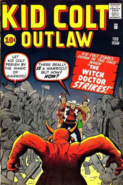Cover for Kid Colt Outlaw (Marvel, 1949 series) #100