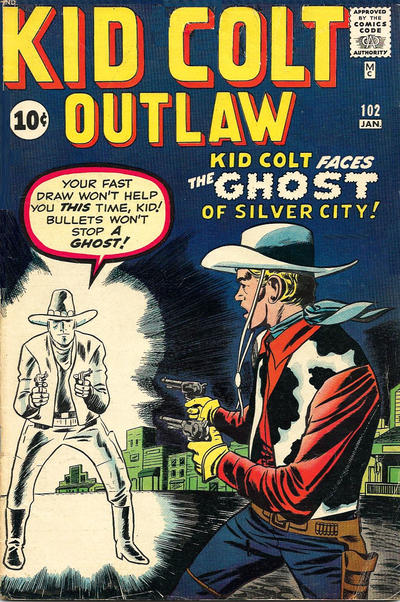 Cover for Kid Colt Outlaw (Marvel, 1949 series) #102