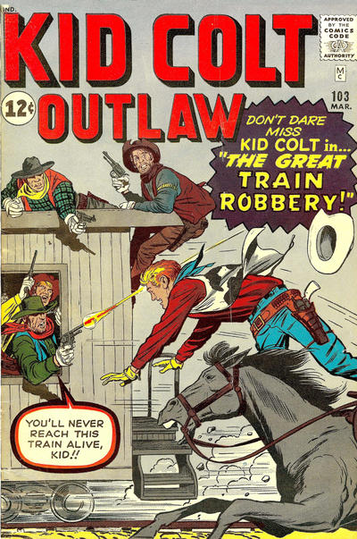 Cover for Kid Colt Outlaw (Marvel, 1949 series) #103