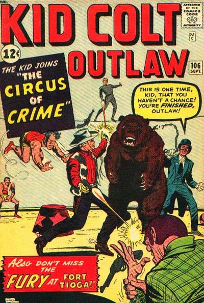 Cover for Kid Colt Outlaw (Marvel, 1949 series) #106