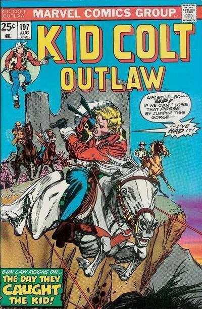 Cover for Kid Colt Outlaw (Marvel, 1949 series) #197