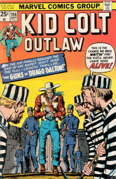 Cover for Kid Colt Outlaw (Marvel, 1949 series) #198
