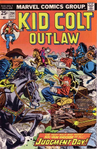 Cover for Kid Colt Outlaw (Marvel, 1949 series) #204