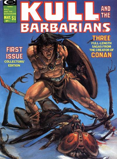 Cover for Kull and the Barbarians (Marvel, 1975 series) #1