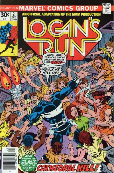 Cover for Logan's Run (Marvel, 1977 series) #2 [Regular Edition]