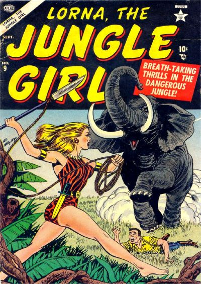 Cover for Lorna the Jungle Girl (Marvel, 1954 series) #9