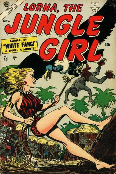 Cover for Lorna the Jungle Girl (Marvel, 1954 series) #10