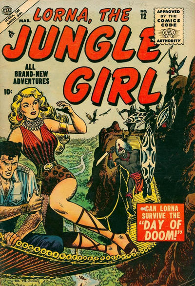 Cover for Lorna the Jungle Girl (Marvel, 1954 series) #12