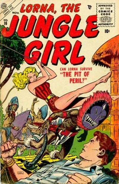 Cover for Lorna the Jungle Girl (Marvel, 1954 series) #16